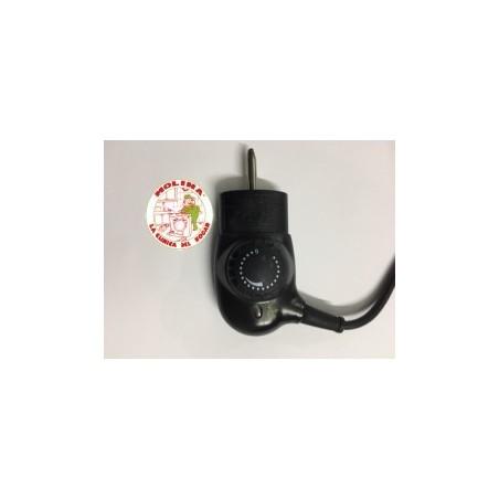 Cable con termostato plancha asados Jata borne 4mm.
