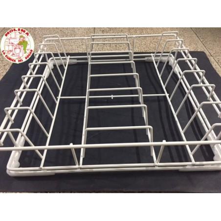 Cesta platos lavavajillas industrial 40x40x8 cm.
