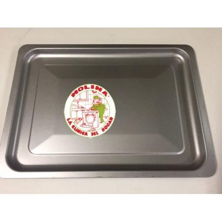 Bandeja horno sobremesa Jata 37,5x27,6, aluminio.