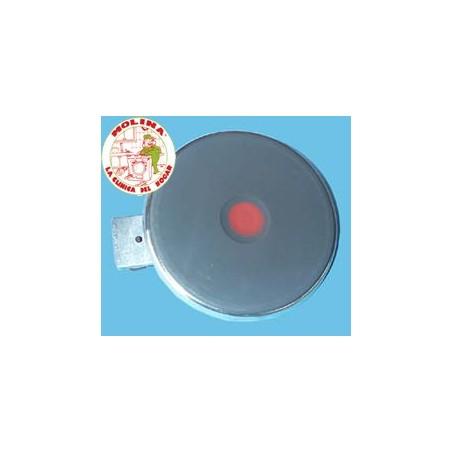 Placa, resistencia, calefactor, blindada cocina 2000W, 220V, diam. 19,5 cm.