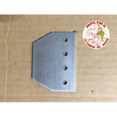 Pletina sujección interior bisagra lavadora grupo Electrolux, Zanussi, Aeg, Corberó.