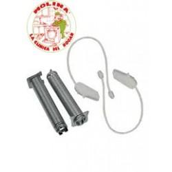 Cuerda+muelle freno lavavajillas grupo Bosch, Balay, Siemens, Neff, juego de 2 unidades.