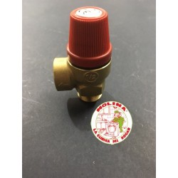 Válvula seguridad agua caldera, termo, 7 bares.