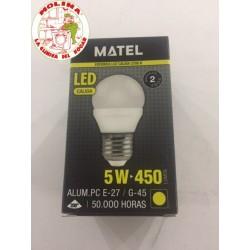 Bombilla LED MUNDO G45 E27...