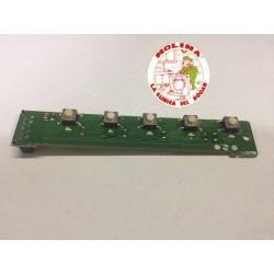 Circuíto electrónico campana extractora Frecan 10,3x1,6 cm. 5 teclas.