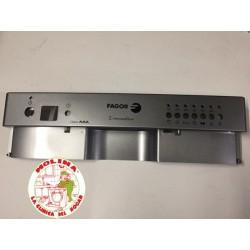 Panel mandos lavavajillas Fagor 44,5x12 cm. color plata.