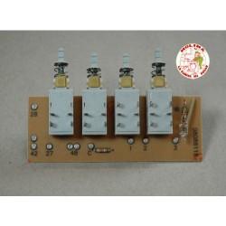 Circuito-tarjeta electrónica tecladora campana extractora Nodor, 4 teclas, K12, 11X4,3 cm.
