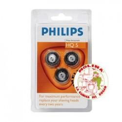 Cuchilla afeitadora Philips HQ5-HQ6, juego de 3 unidades.