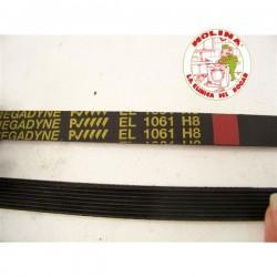 Correa estriada H-1061elástica, lavadora Indesit, Ariston