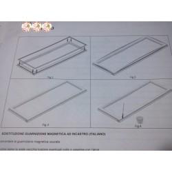 Burlete Magnetico, goma puerta frigorífico Frigicoll, presión medio, 54,5x124,5 cm.