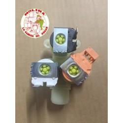 Electroválvula triple 90º lavadora grupo Electrolux, Corberó, Zanussi, Aeg., 220V 3 vias.