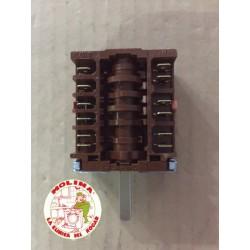 Conmutador horno 5 posiciones grupo Ulgor, Fagor, Aspes, Edesa, s/ termostato.