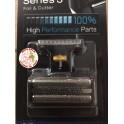 Lámina+cuchilla afeitadora Braun serie 3.