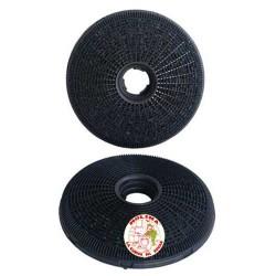 Filtro carbón activo campana Candy, diam. 20cm, 2 unidades