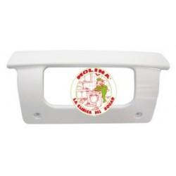 Tirador puerta frigorífico Teka, distancia entre tornillos 13 cm. color blanco.