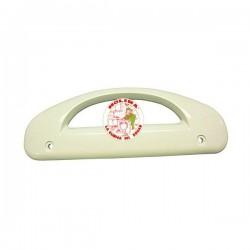 Tirador puerta Frigorífico New pol, Rommer, color blanco, distancia entre tornillos 14 cm.