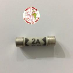 Fusible seguridad 2 Amp, 6x25 mm.